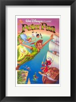 Framed Peter Pan Captain Hook