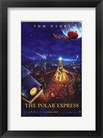 Framed Polar Express Santa Claus