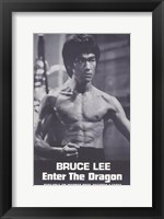 Framed Enter the Dragon Burce Lee Black and White