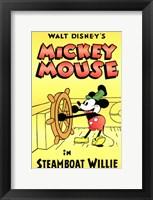 Framed Steamboat Willie