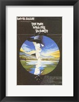 Framed Man Who Fell to Earth Bowie
