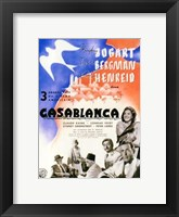 Framed Casablanca Blue Bird
