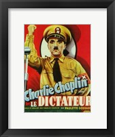 Framed Great Dictator - man holding up his fist