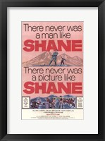 Framed Shane There Never Was a Man Like