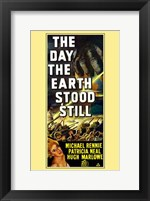 Framed Day the Earth Stood Still Michael Rennie