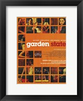 Framed Garden State - scenes in orange