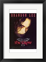 Framed Crow Brandon Lee
