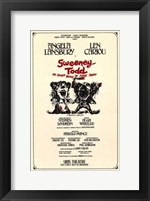 Framed Sweeney Todd (Broadway Musical)