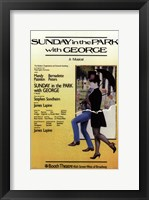 Framed Sunday in the Park with George (Broadway