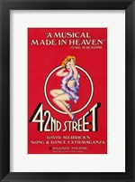 Framed 42Nd Street (Broadway Musical)