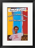 Framed Napoleon Dynamite Vote for Pedro