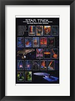 Framed Star Trek: One-Sheet Movie Poster Checklist