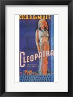 Framed Cleopatra Art Deco Cecil B. DeMille