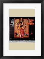 Framed Enter the Dragon Tan Border