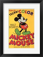 Framed Walt Disney's Mickey Mouse Poster