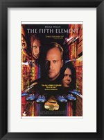 Framed Fifth Element Bruce Willis