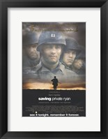 Framed Saving Private Ryan - See it tonight. Remember it forever.