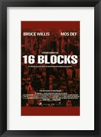 Framed 16 Blocks - red