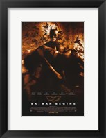 Framed Batman Begins Liam Neeson and Kate Holmes