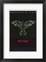 Framed Crow Eyes Brandon Lee