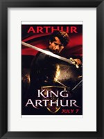Framed King Arthur - Arthur