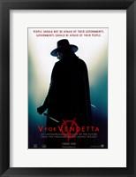 Framed V for Vendetta Silhouette