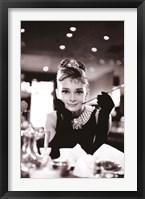 Framed Audrey Hepburn-Breakfast at Tiffany's