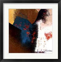 Teal Abstract II Framed Print