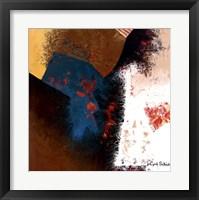 Teal Abstract II Framed Print