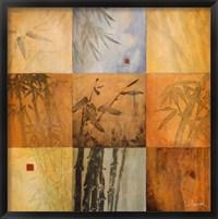 Bamboo Nine Patch Framed Print