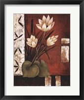 Lotus Silhouette II Framed Print