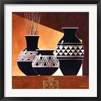 Patterns in Ebony II Framed Print
