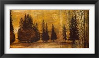 Forest Silhouettes I Framed Print