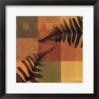Fern Blocks I Framed Print