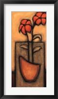 Framed Fleurs de Soleil II