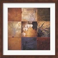 Framed Orchid Nine Patch