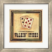 Framed Walkin' Sticks