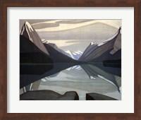 Framed Maligne Lake, Jasper Park