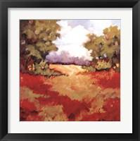 Framed Scarlet Fields II