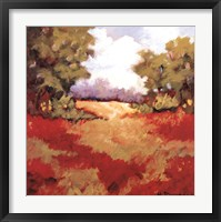 Scarlet Fields II Framed Print