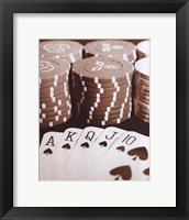 Poker Framed Print