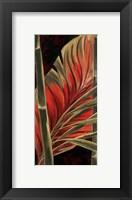 Framed Makatea Leaves II