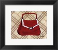 Petit Sac Rouge I Framed Print