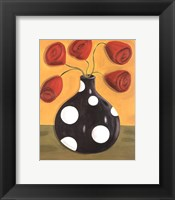 Polka Dot Tulips Framed Print