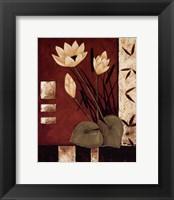 Lotus Silhouette I Framed Print