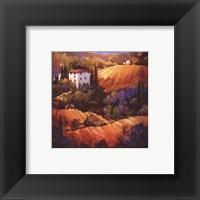Evening Glow Tuscany Framed Print