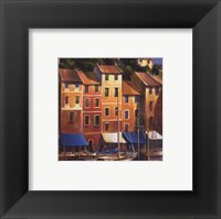 Portofino Waterfront Framed Print