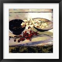 Red & White Orchids Framed Print