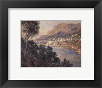 Framed Monte Carlo Vue De Cap Martin