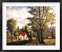 House On The Rural Road Framed Print